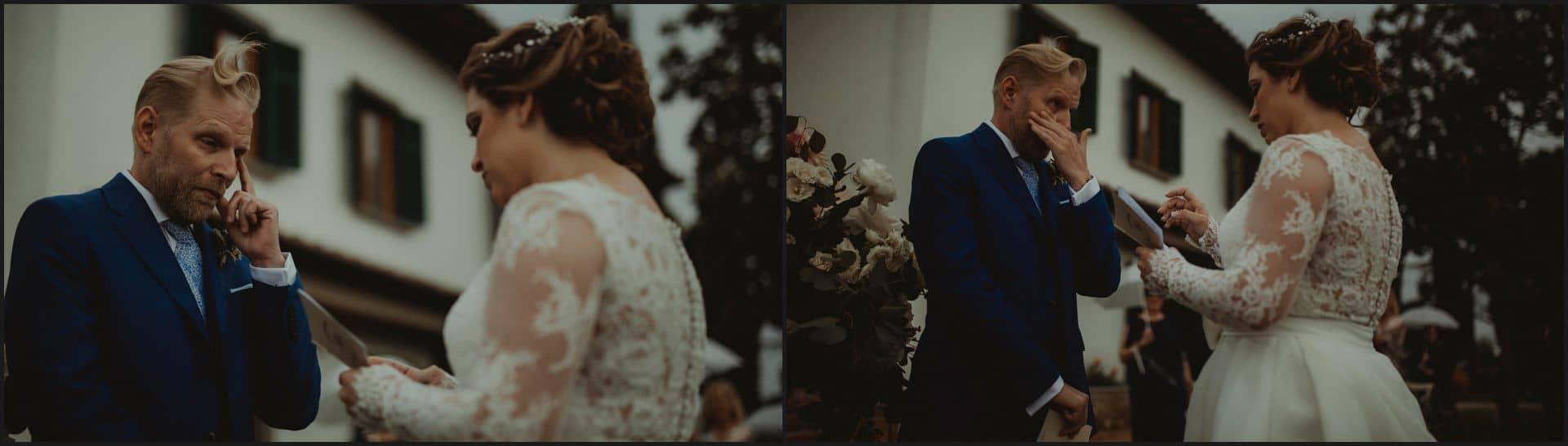 tuscany, destination wedding, chianti, wedding ceremony, vows, bride, groom