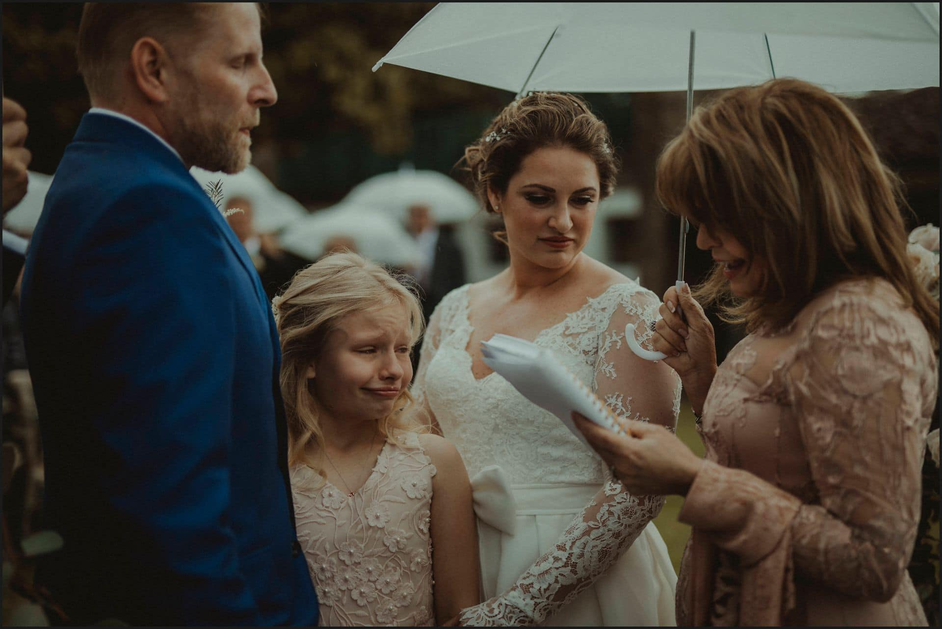 tuscany, destination wedding, chianti, wedding ceremony, bride, groom, daughter, cry