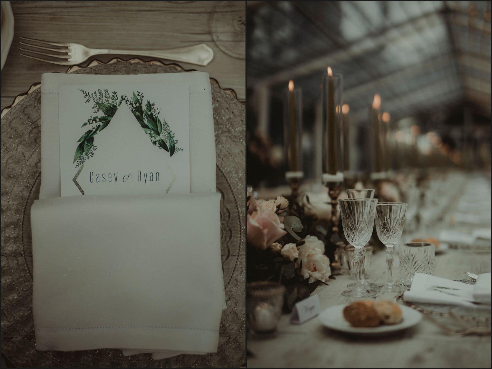 tuscany, destination wedding, chianti, table setting, menu, details