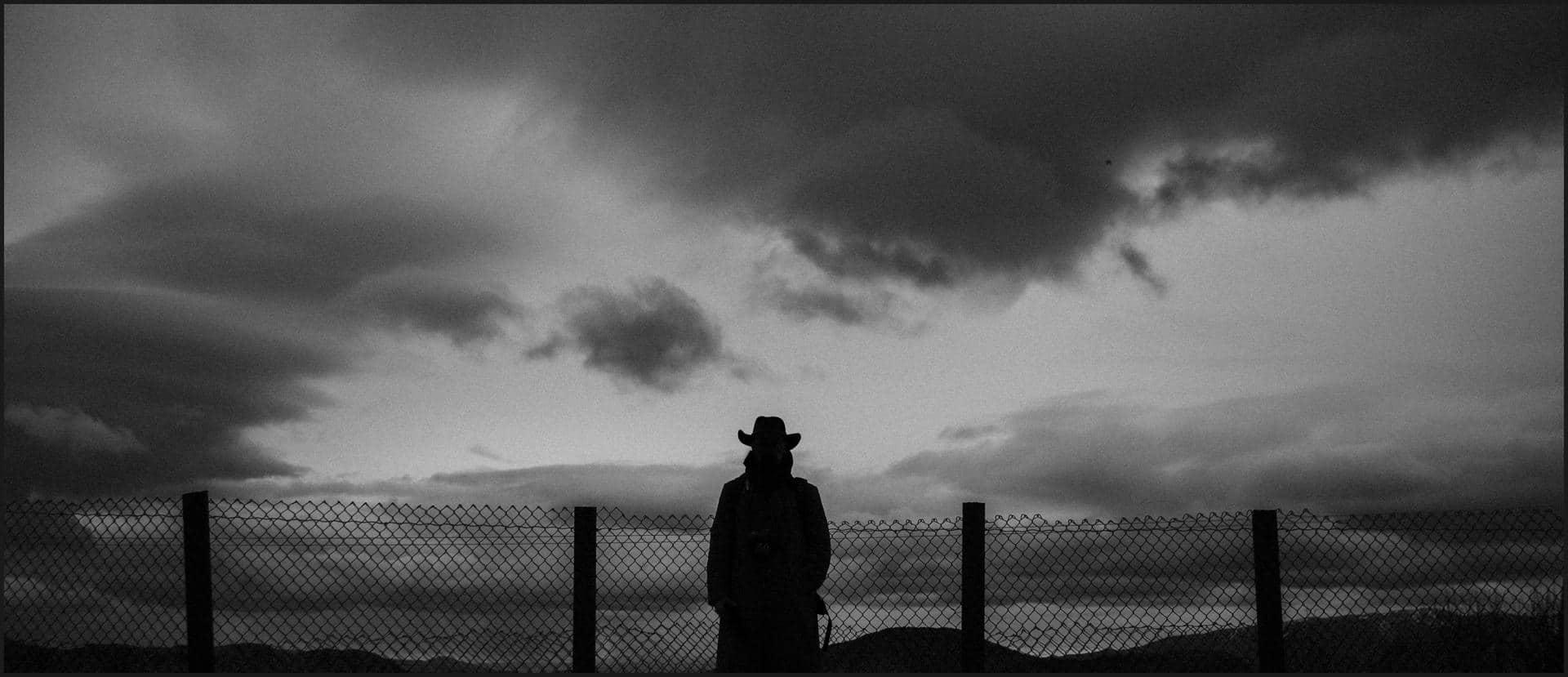 california, road trip, black and white, cowboy