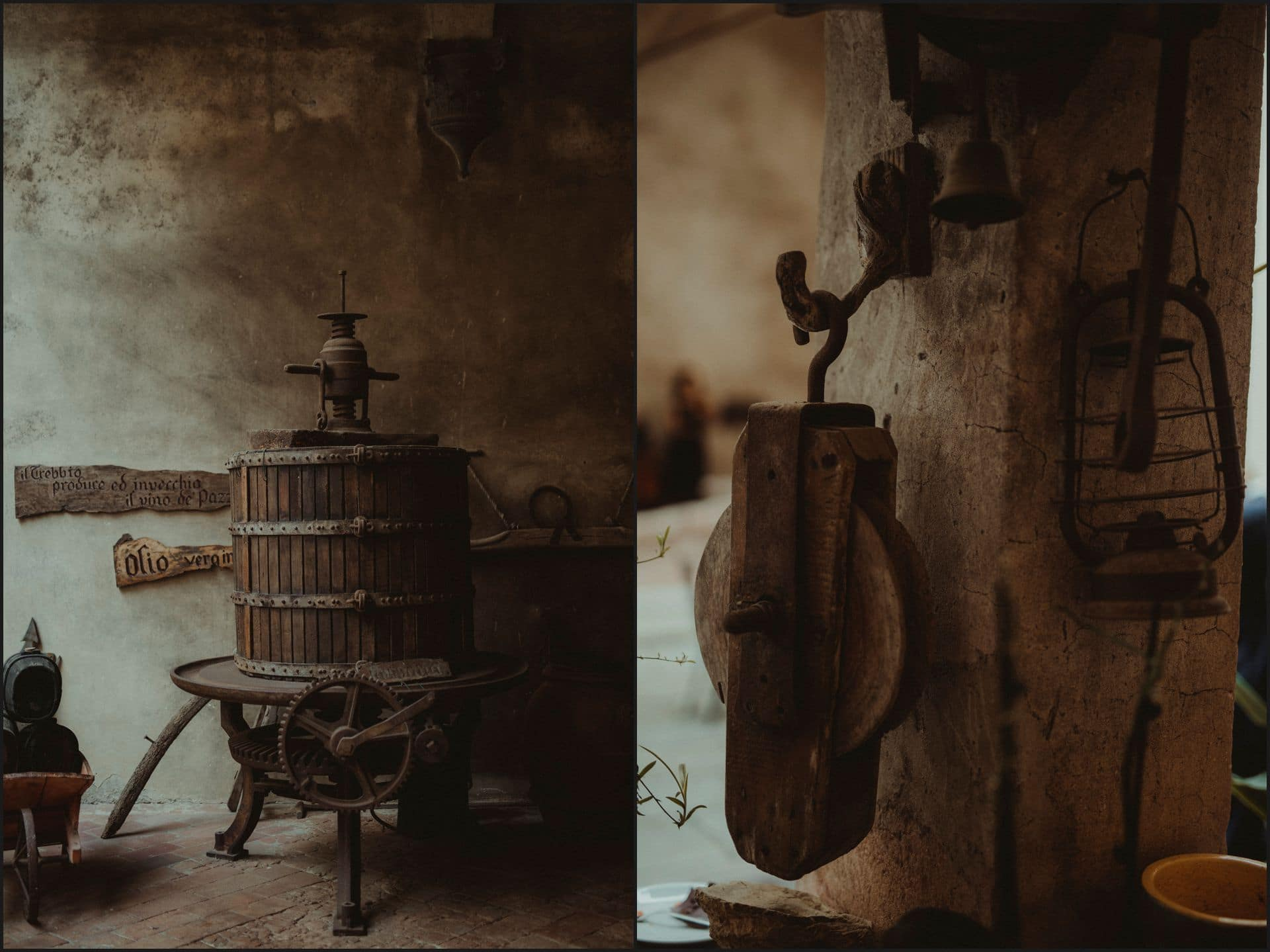 destination wedding, castello del trebbio, tuscany, inside, details