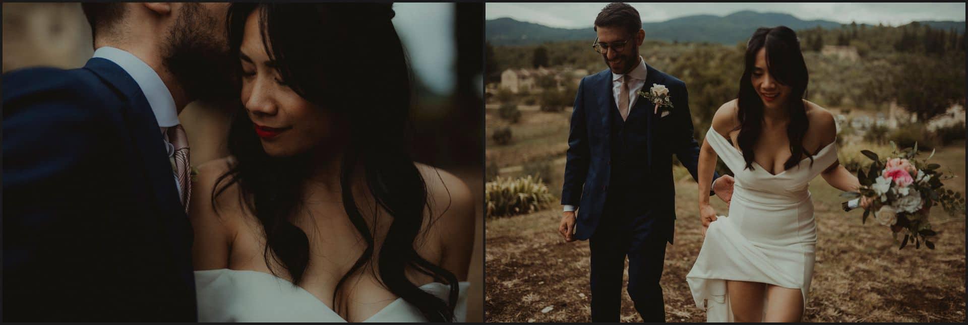 destination wedding, castello del trebbio, tuscany, bride, groom