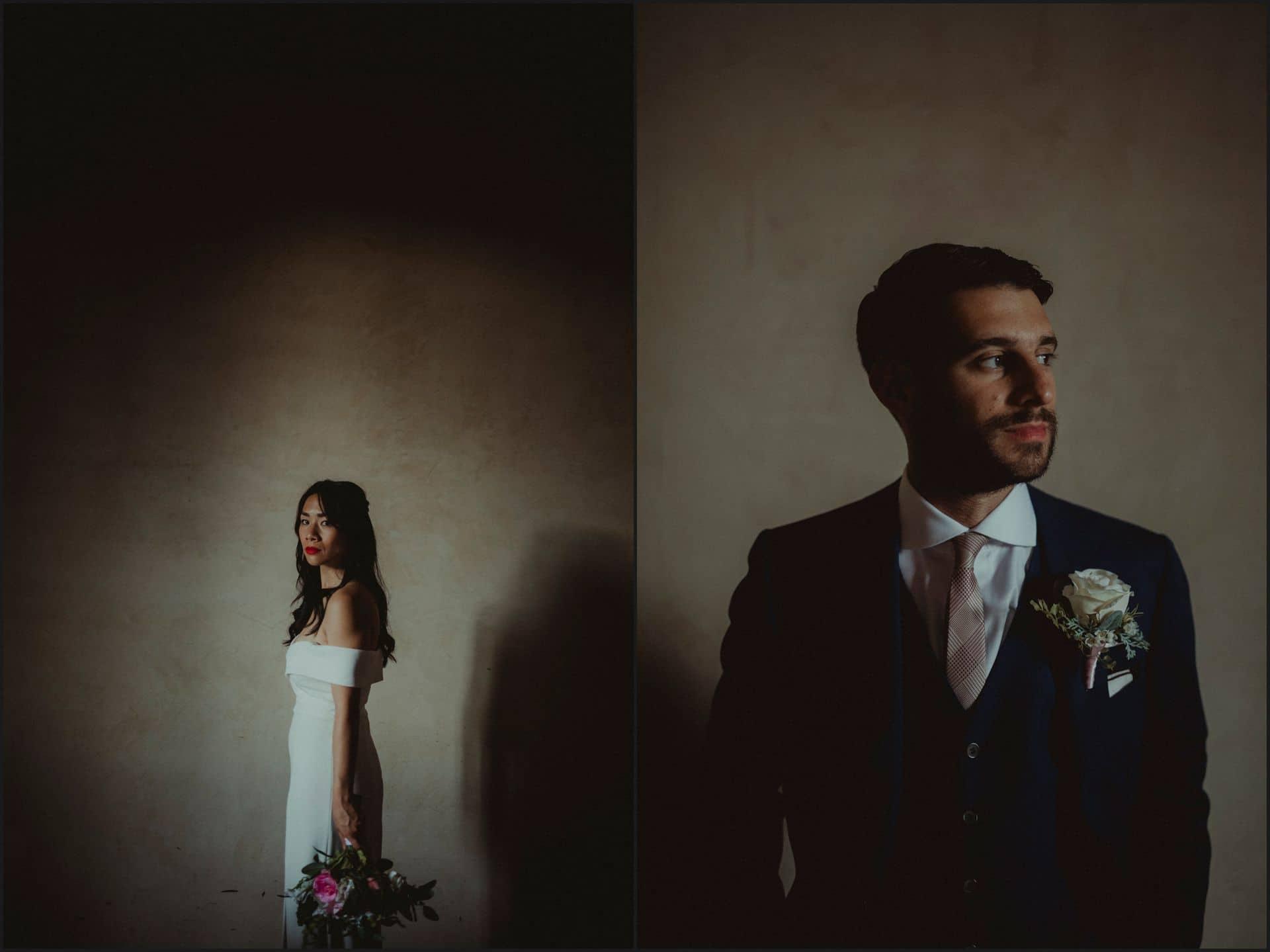 destination wedding, castello del trebbio, tuscany, bride, groom, portraits