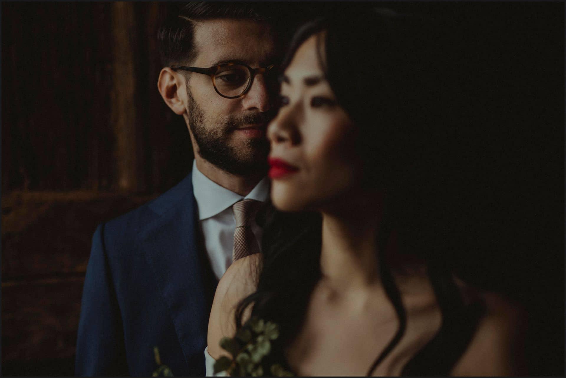 destination wedding, castello del trebbio, tuscany, bride, groom, romantic portrait