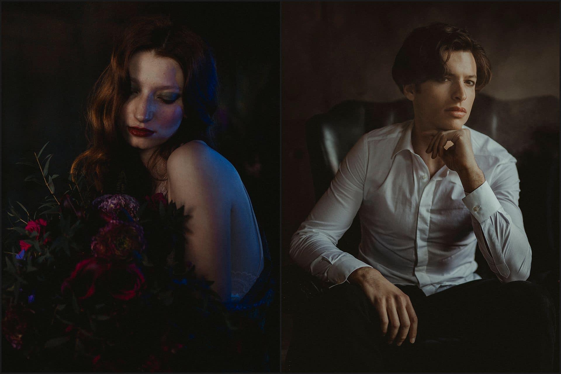 bride portrait, groom portrait, unconventional wedding, cross studio, milan, wedding photographer, wedding in italy