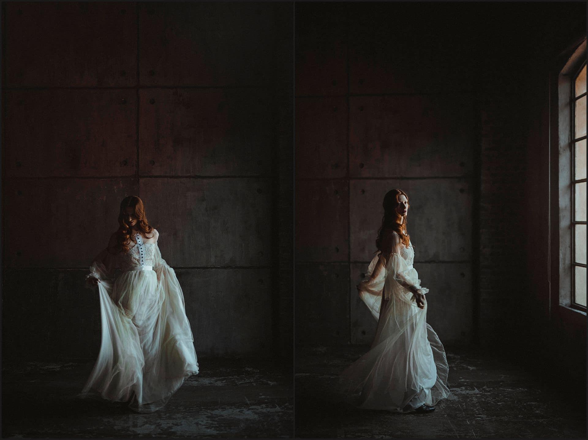 dancing, wedding dress, bride portrait, dancing, unconventional wedding, cross studio, milan, wedding photographer, wedding in italy