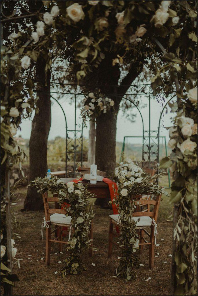 borgo di tragliata, wedding, rome, wedding in rome, ceremony, setting, destination wedding in rome