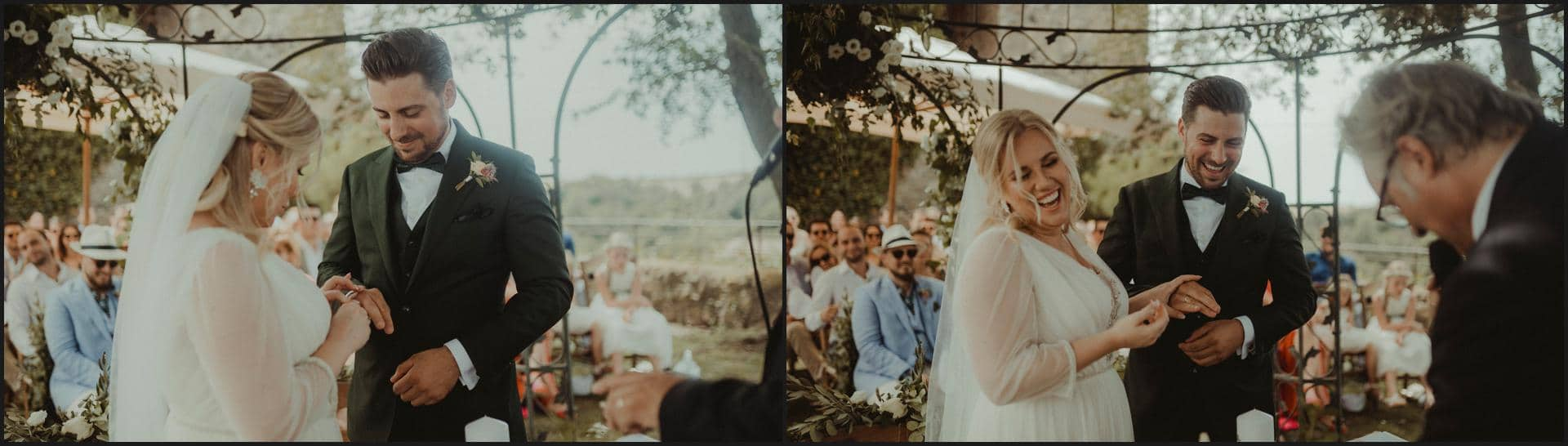 borgo di tragliata, wedding, rome, wedding in rome, exchanging of the rings, wedding in italy, destination wedding in italy