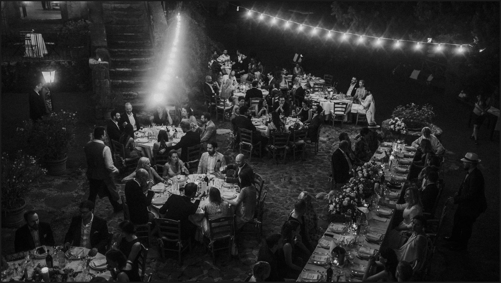 borgo di tragliata, wedding, rome, wedding in rome, black and white, table setting, wedding reception