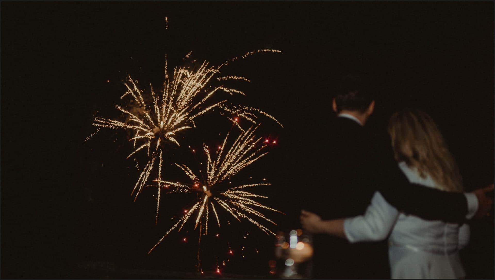 borgo di tragliata, wedding, rome, wedding in rome, bride and groom, fireworks, wedding in rome