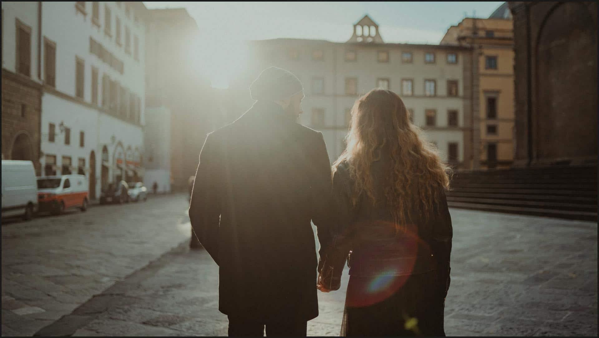 florence, tuscany, couple, engagement session