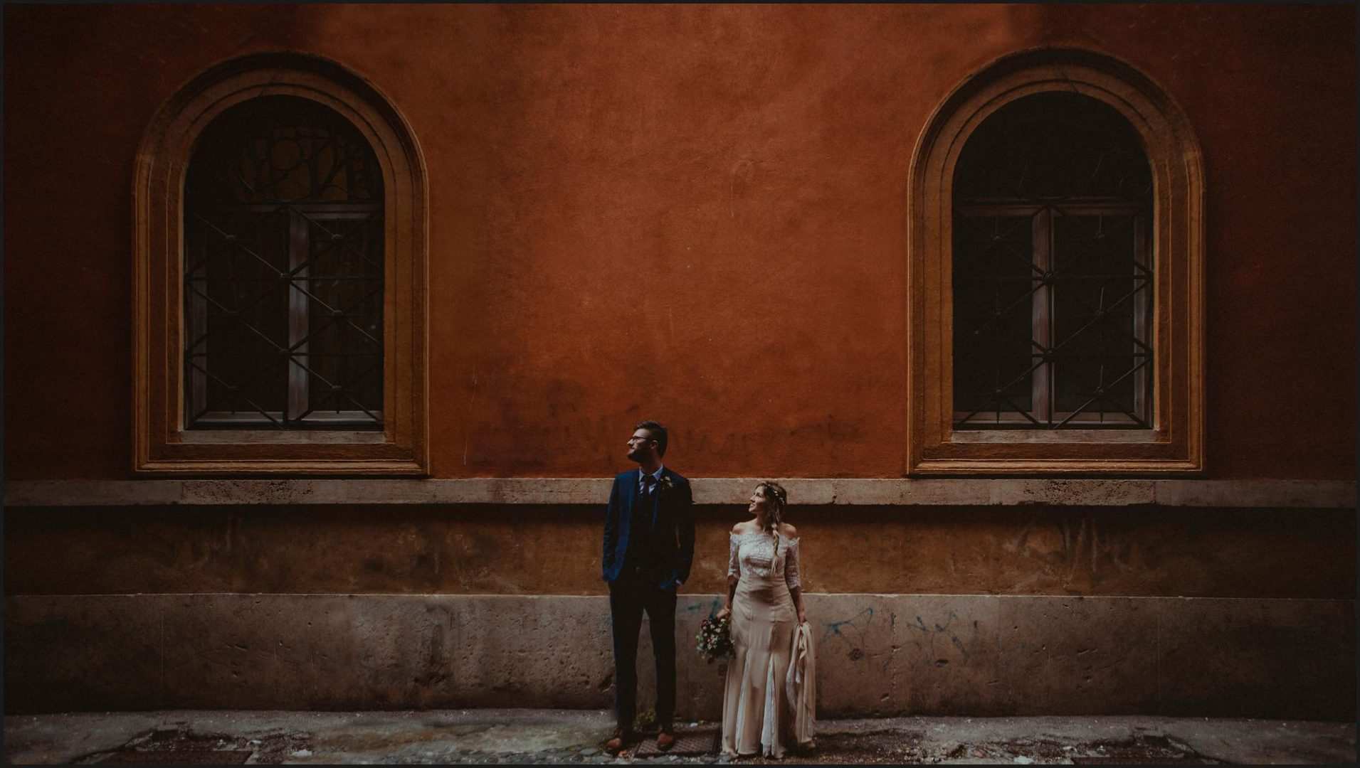 rome, elopement, wedding, bride, groom, portrait